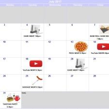 イベントカレンダー7月